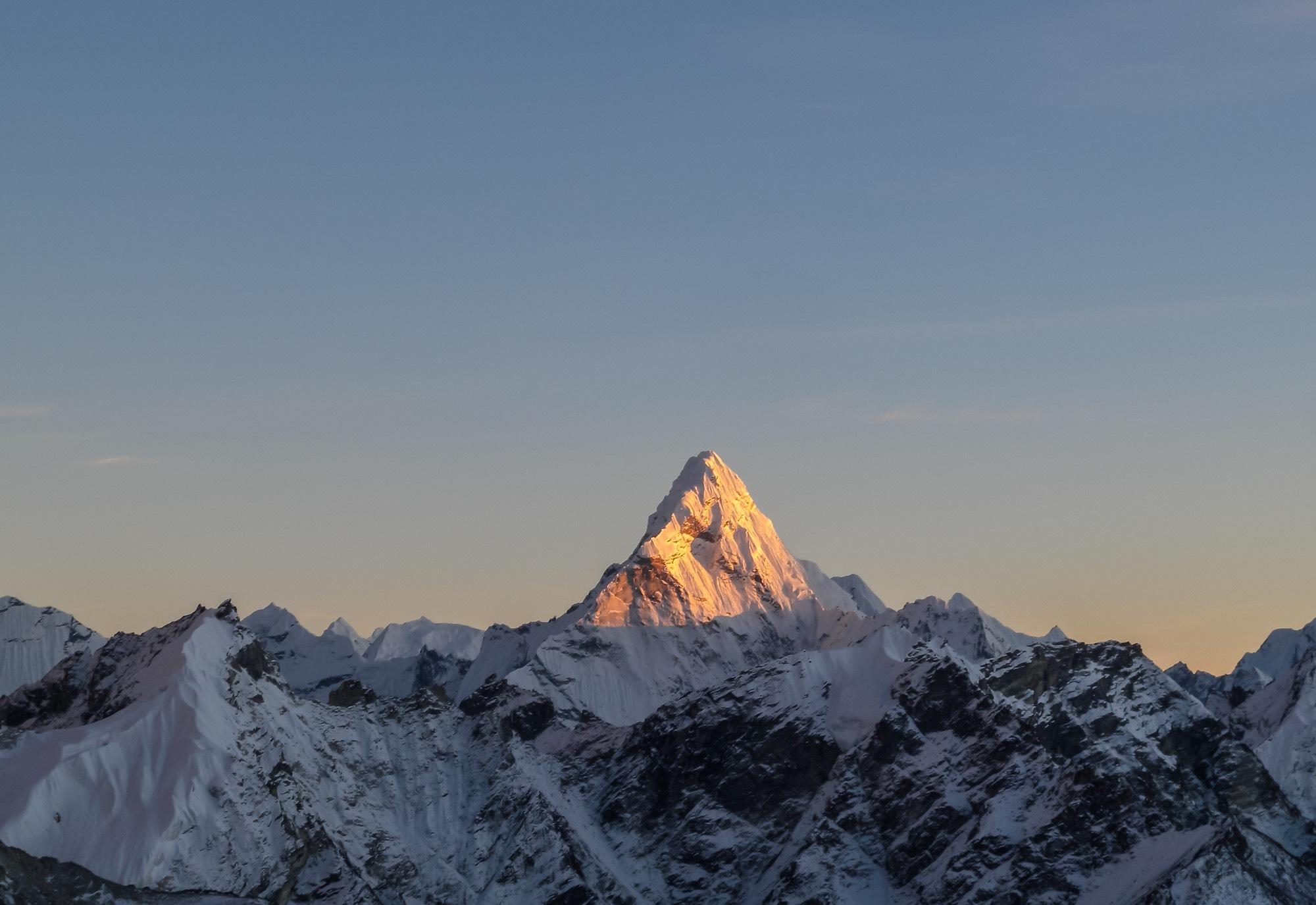 The highest mountain in the world, Everest and Himalaya neighborhood